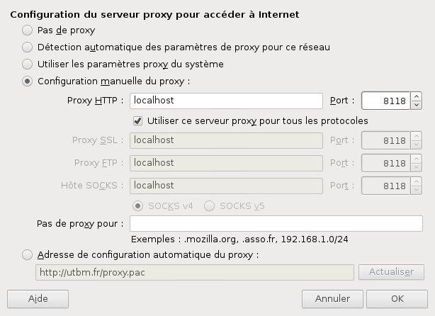 Proxy Firefox