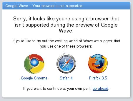 Google Wave avec une Debian, ça commence bien...
